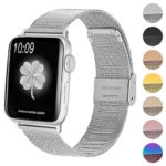A.m2.ss Gallery Silver StrapsCo Stainless Steel Milanese Mesh Adjustable Watch Band For Apple Watch
