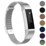 Fb.m3.ss Gallery Silver StrapsCo Milanese Mesh Stainless Steel Watch Band Strap For FitBit Alta, FitBit Alta HR, FitBit Ace