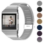 Fb.m32.ss Gallery Silver StrapsCo Milanese Mesh Stainless Steel Watch Band Strap For FitBit Ionic