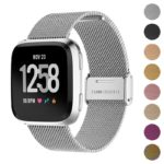 Fb.m54.ss Gallery Silver StrapsCo Milanese Mesh Stainless Steel Watch Band Strap For FitBit Versa