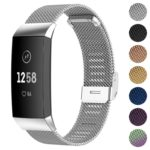 Fb.m66.ss Gallery Silver StrapsCo Stainless Steel Milanese Mesh Watch Band For Fitbit Charge 3 & Charge 4