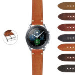 S.gx3.ks4 StrapsCo Hand Stitched Vintage Washed Leather Strap For Samsung Galaxy Watch 3 45mm 41mm 22mm 20mm