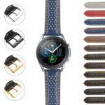 S.gx3.st22 StrapsCo Perforated Rally Strap For Samsung Galaxy Watch 3 45mm 41mm 22mm 20mm