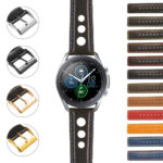 S.gx3.st26 StrapsCo Leather Rally Strap For Samsung Galaxy Watch 3 45mm 41mm 22mm 20mm