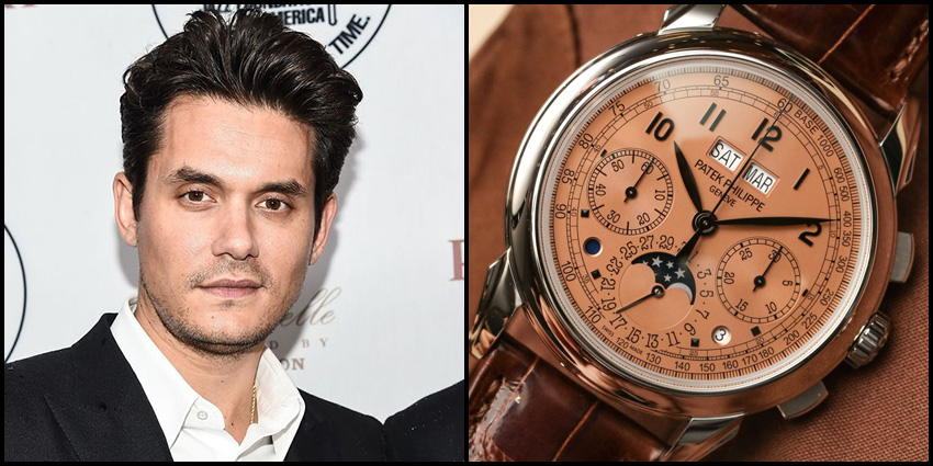 Celebrity Luxury Watch Collections John Mayer Patek Philippe Perpetual Calendar Chronograph