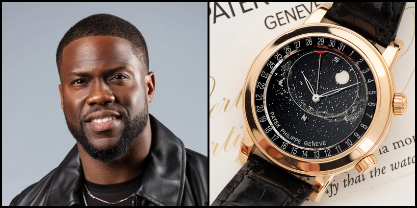 Celebrity Luxury Watch Collections Kevin Hart Patek Philippe Grand Complications Celestial