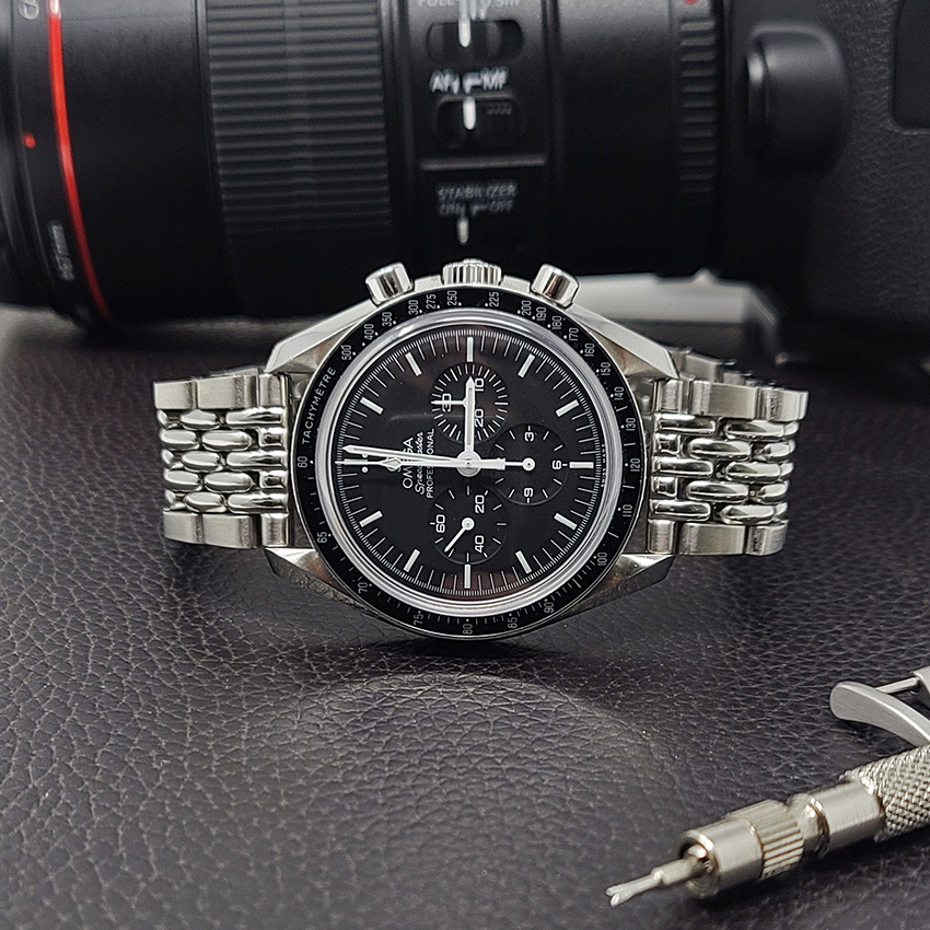 One Watch Four Looks Omega Speedmaster Metal Beads Of Rice Bracelet