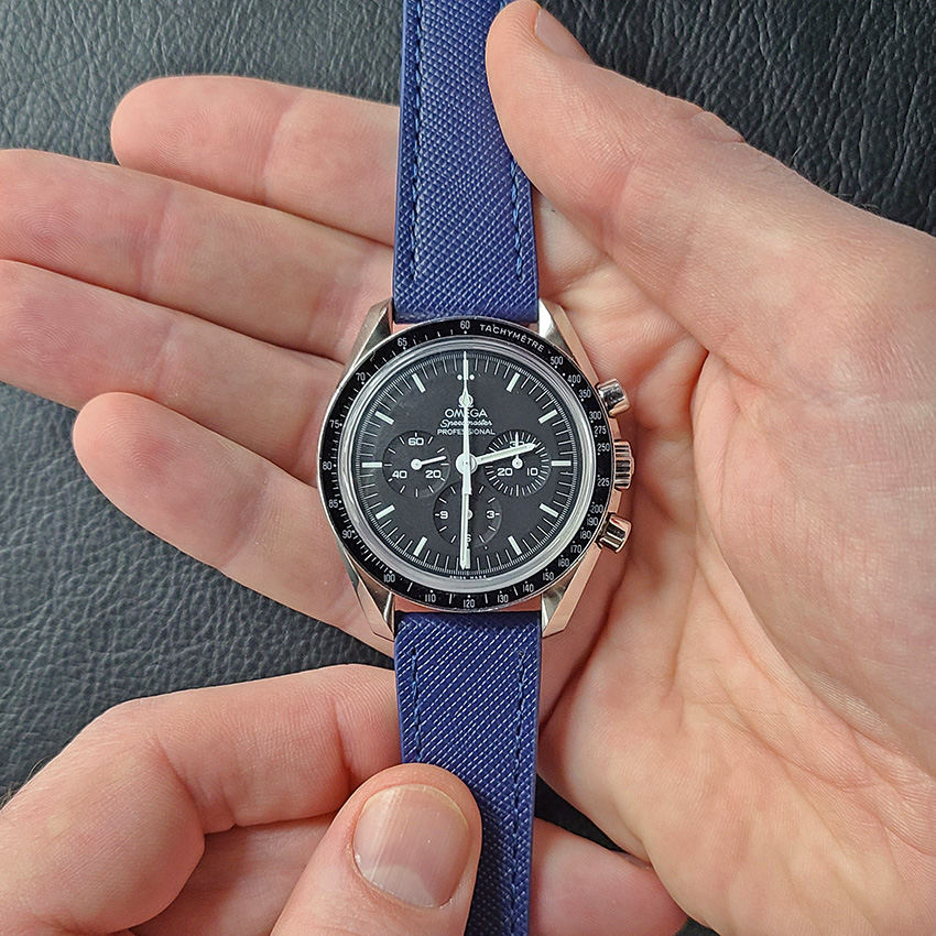 One Watch Four Looks Omega Speedmaster Saffiano Leather Strap