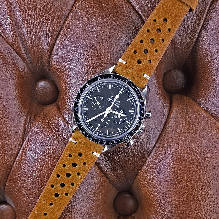 One Watch Four Looks Omega Speedmaster Vintage Perforated Rally Strap