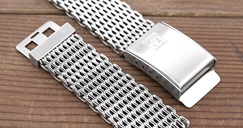 Most Iconic Watch Bracelets Ever Made Omega Ploprof Shark Mesh Bracelet