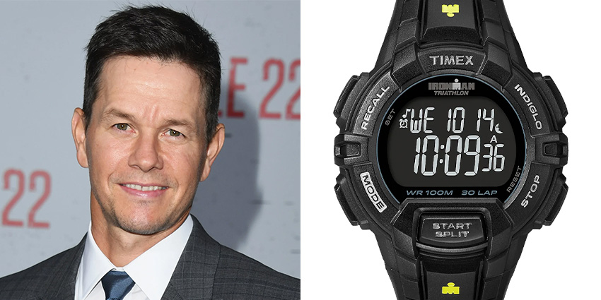 Affordable Watches Worn By Celebrities Mark Wahlberg Timex Ironman Rugged 30