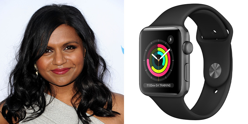 Affordable Watches Worn By Celebrities Mindy Kaling Apple Watch