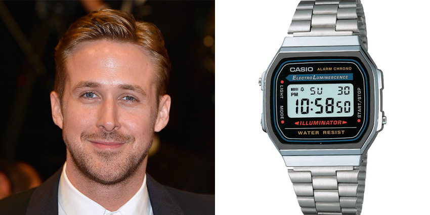 Affordable Watches Worn By Celebrities Ryan Gosling Casio A168wa