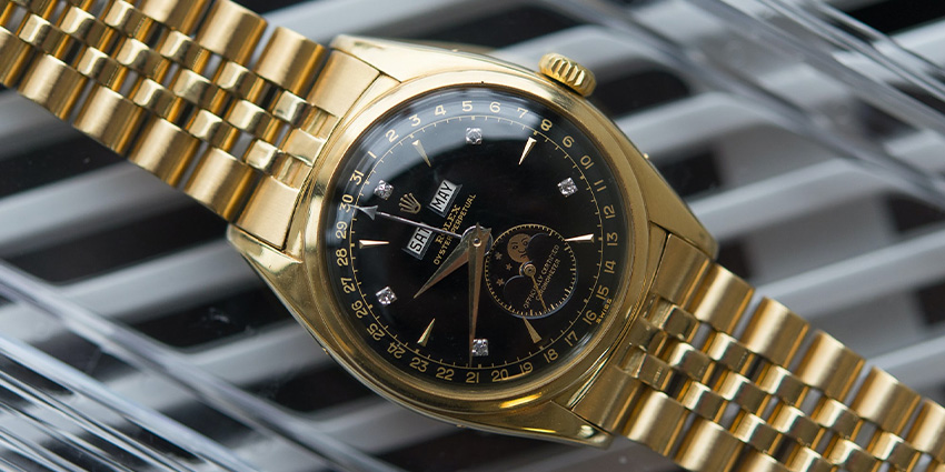 Most Expensive Rolex Watches Ever Sold #4 Rolex Triple Calendar 6062 Bao Dai