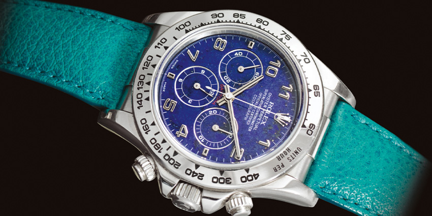 Most Expensive Rolex Watches Ever Sold #6 Rolex Daytona 16516 Lapis Lazuli