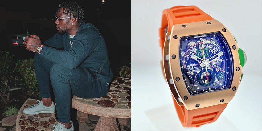 Super Bowl Wrist Check Watches Of Chiefs And Buccaneers Jason Pierre Paul Richard Mille 2