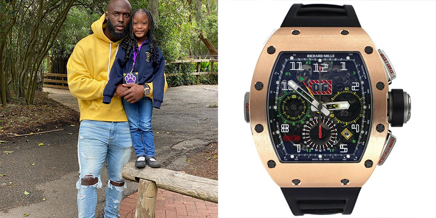 Super Bowl Wrist Check Watches Of Chiefs And Buccaneers Leonard Fournette Richard Mille 2