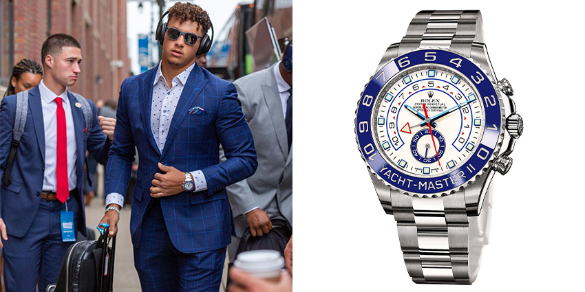 Super Bowl Wrist Check Watches Of Chiefs And Buccaneers Patrick Mahomes Rolex 2