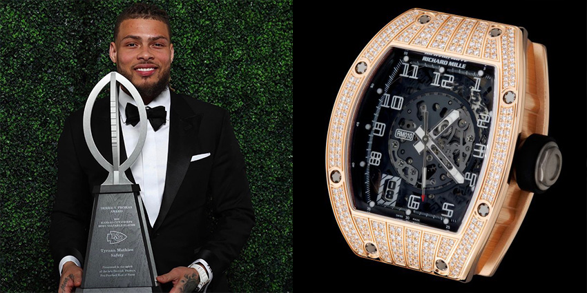 Super Bowl Wrist Check Watches Of Chiefs And Buccaneers Tyrann Mathieu Richard Mille 2