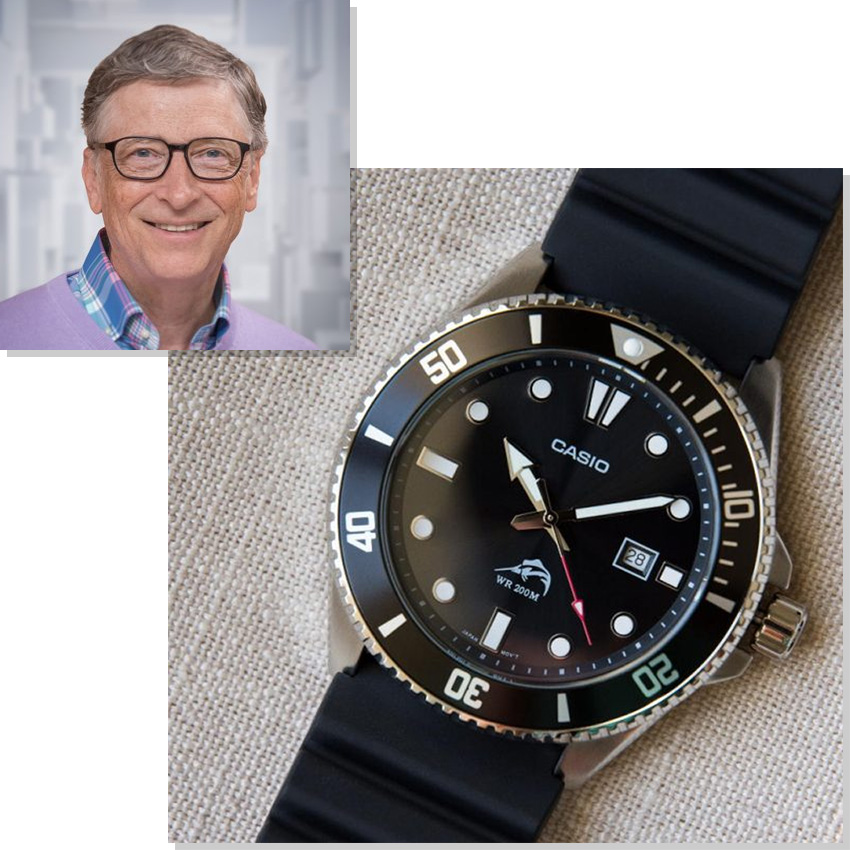 Watches Worn By Top Ceos And Business Leaders Bill Gates Casio Duro Marlin