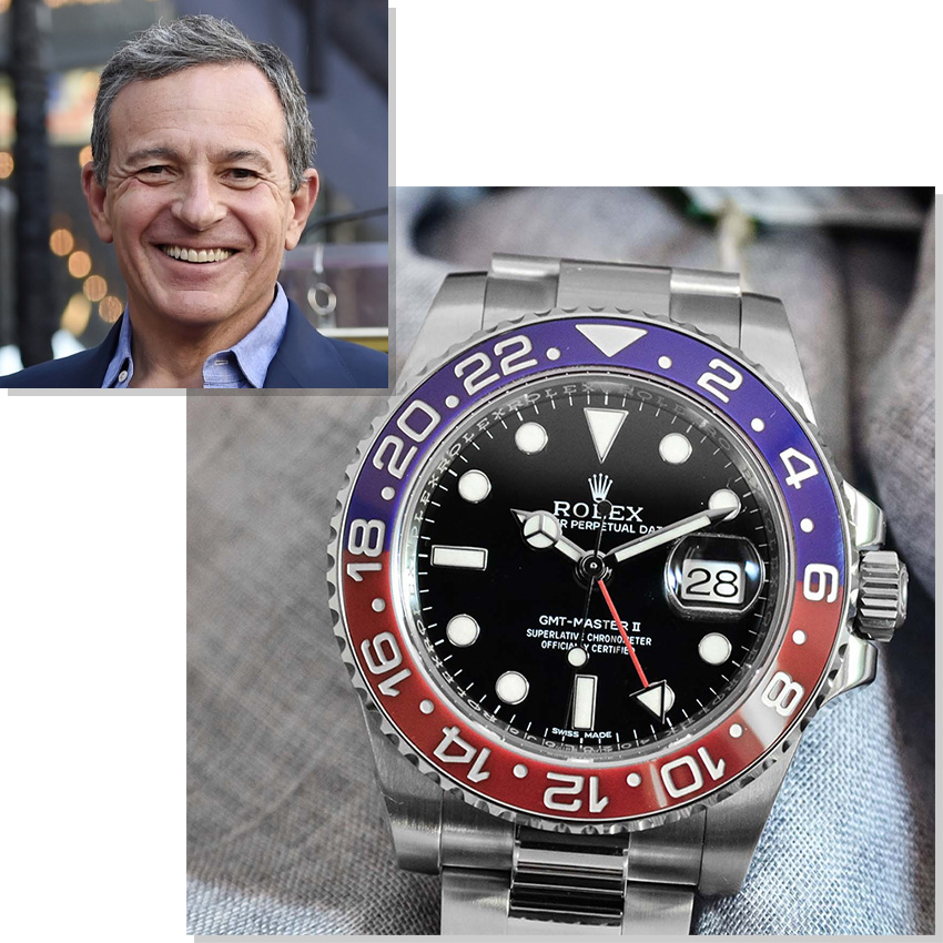 Watches Worn By Top Ceos And Business Leaders Bob Iger Rolex Gmt Master Ii Pepsi