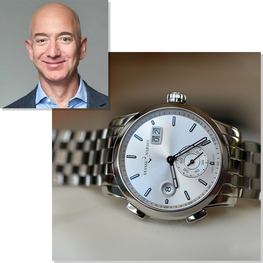 Watches Worn By Top Ceos And Business Leaders Jeff Bezos Ulysse Nardin Dual Time