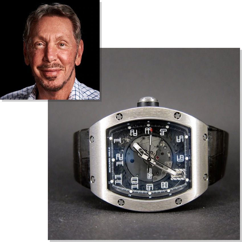 Watches Worn By Top Ceos And Business Leaders Larry Ellison Richard Mille Rm005