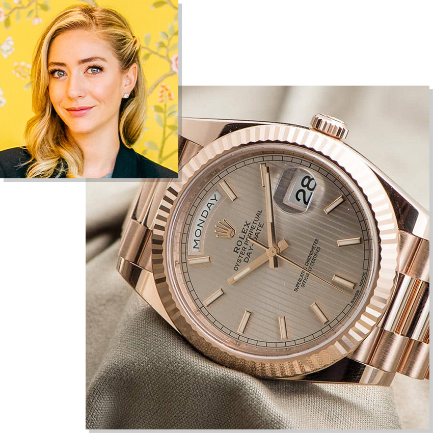 Watches Worn By Top Ceos And Business Leaders Whitney Wolfe Herd Rolex Day Date 36 Everose Gold
