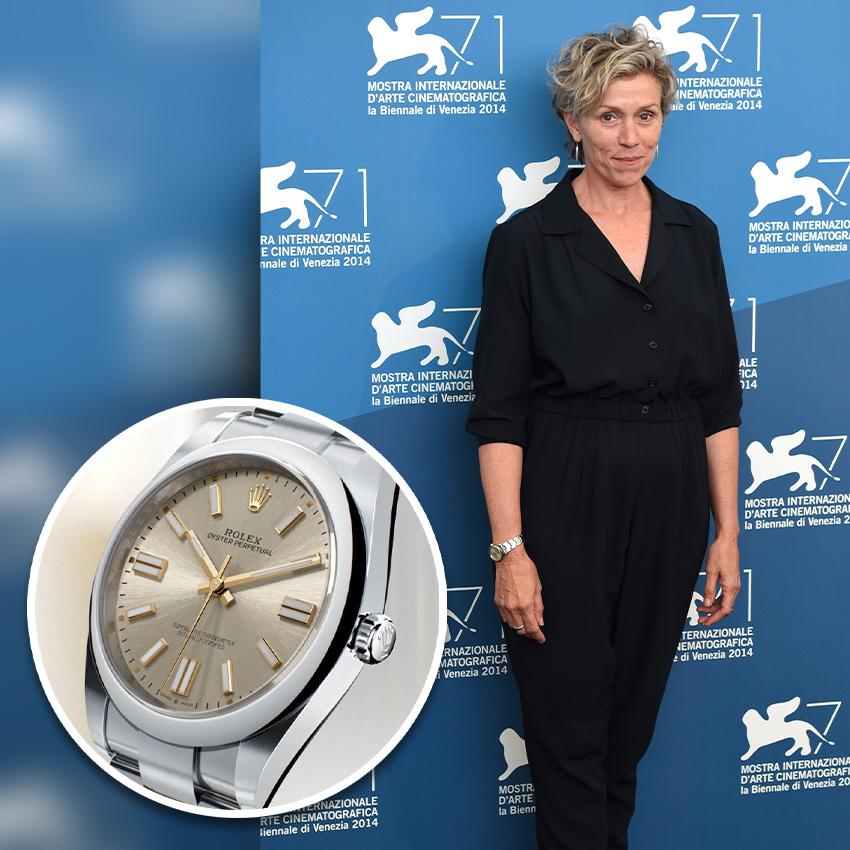Academy Award Nomiees And Their Watches Frances Mcdormand Rolex Oyster Perpetual