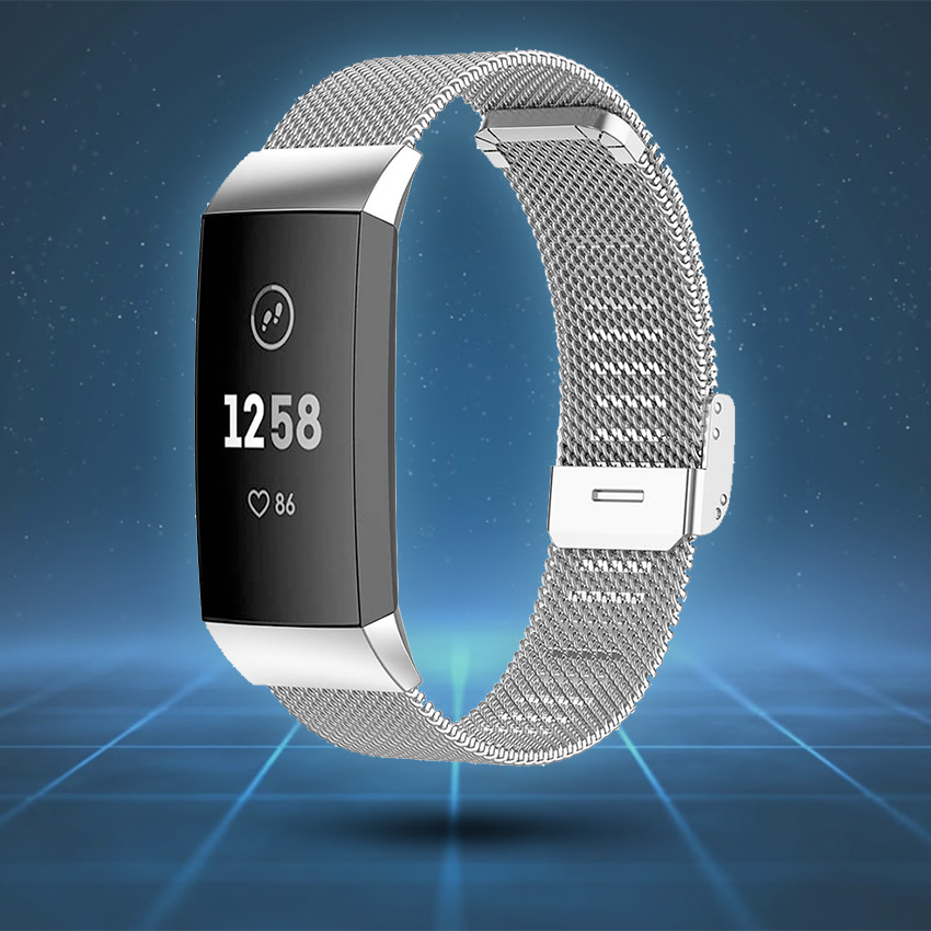 Fitbit Charge 3 & 4 Strap Style Guide Milanese Mesh