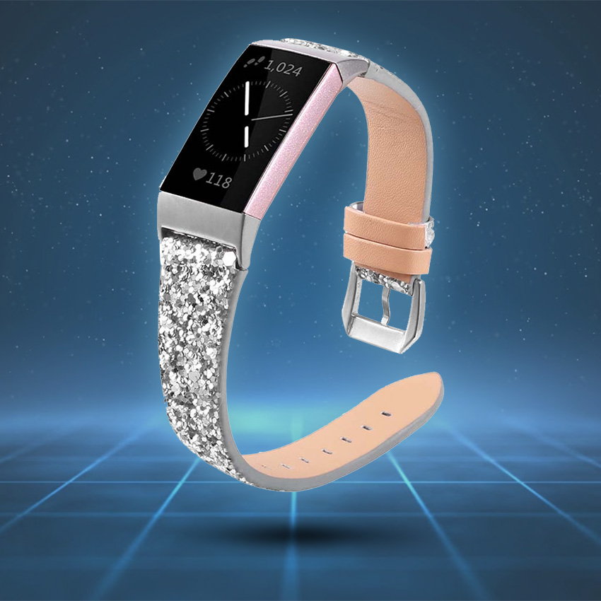 Fitbit Charge 3 & 4 Strap Style Guide Sequin