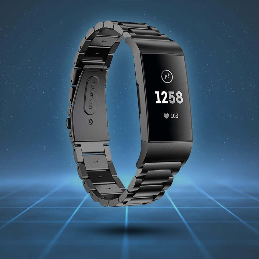 Fitbit Charge 3 & 4 Strap Style Guide Stainless Steel