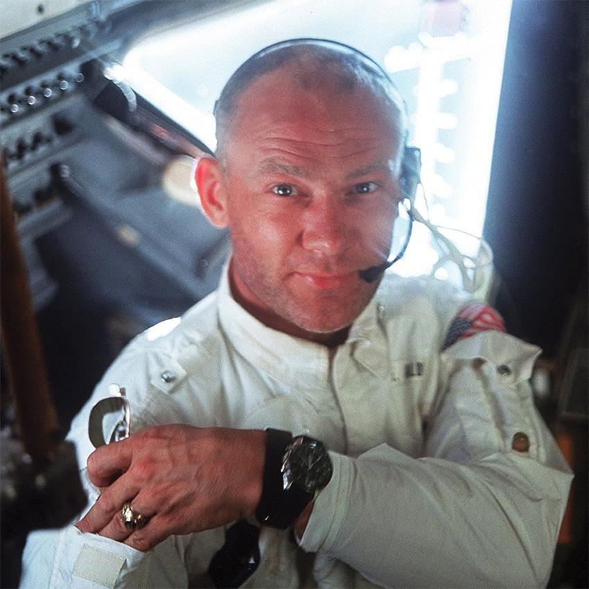 History Of The Omega Speedmaster Buzz Aldrin In Outer Space