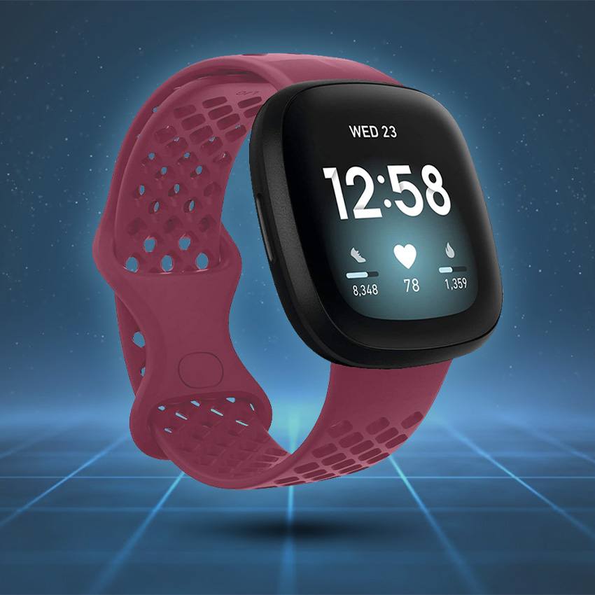 Fitbit Sense Strap Style Guide Perforated Silicone Rubber