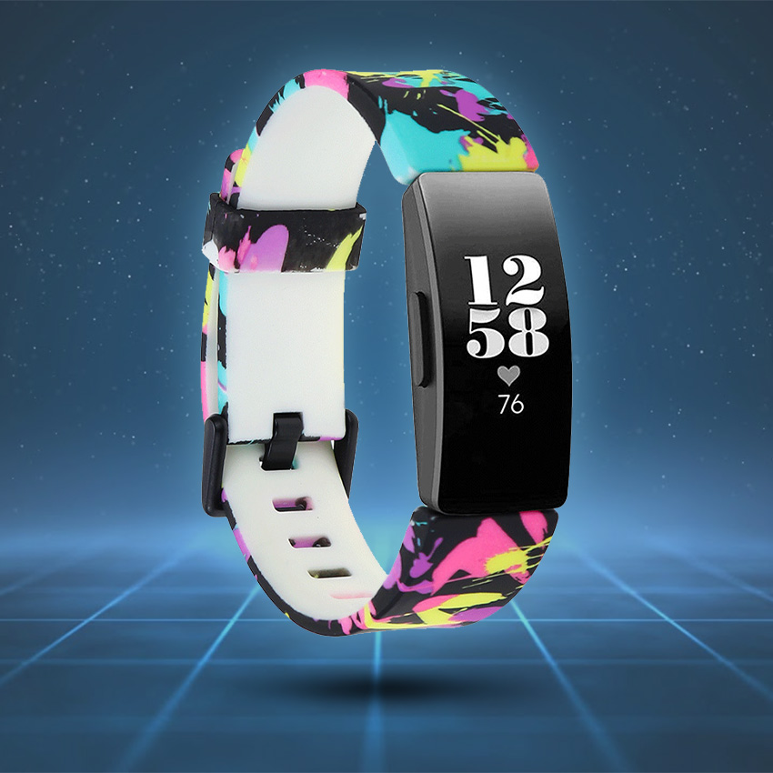 Fitbit Inspire Strap Style Guide Patterned Rubber
