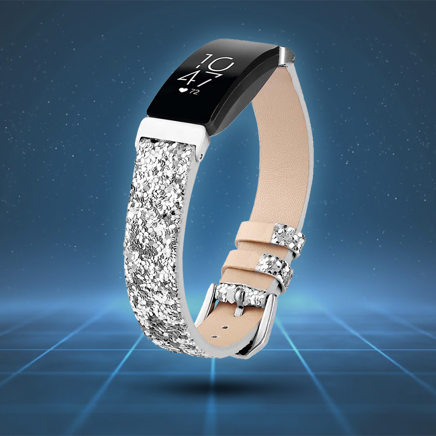 Fitbit Inspire Strap Style Guide Sequin Leather