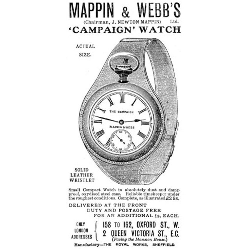History Of Watch Bands Mappin Webbs Campaign Watch